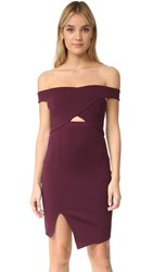 Bec And Bridge Banditti Crossover Mini Dress Claret