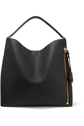 Tom Ford Alix Large Textured Leather Tote Black