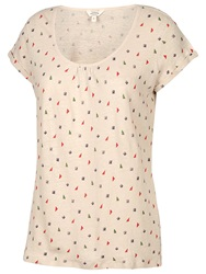 Fat Face Southsea Rustic Diamond T Shirt Ivory
