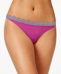 Heidi Klum By Geometric Lace Thong Only At Macy's H37 1167B Wild Aster Purple Ash
