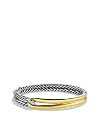 David Yurman Labyrinth Single Loop Bracelet With Gold Silver Gold