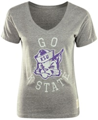 Retro Brand Women's Kansas State Wildcats Graphic T Shirt Gray