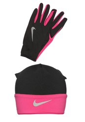 Nike Performance Running Set Gloves Black Vivid Pink