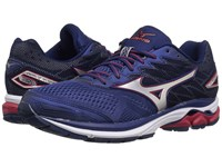 Mizuno Wave Rider 20 Blue Depths Silver Chinese Red Men's Running Shoes