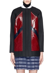 Tanya Taylor 'Calista' Colourblock Panel Bonded Wool Coat Multi Colour