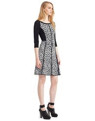 Kenneth Cole Marnie Sweater Dress Black White
