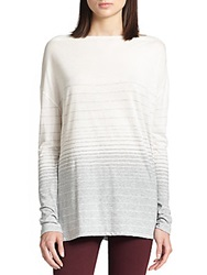 Vince Oversized Striped Jersey Tee Off White