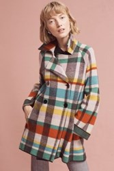 Anthropologie Tartan Wool Coat Assorted