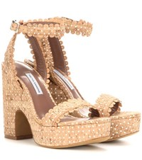 Tabitha Simmons Harlow Perforated Cork Sandals
