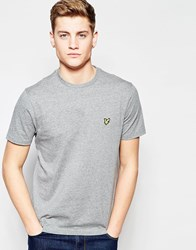Lyle And Scott Vintage T Shirt With Eagle Logo Mid Grey Marl