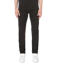 Stone Island Regular Fit Tapered Cotton Trousers Black