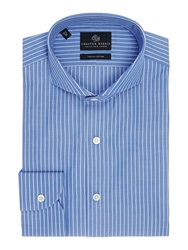 Chester Barrie Tailored Fit Cutaway Collar Formal Shirt Navy