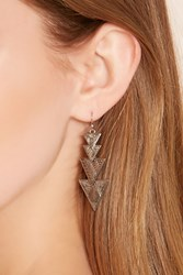 Forever 21 Tiered Triangle Drop Earrings