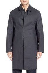 Mackintosh Men's Single Breasted Long Coat Top Grey