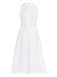 Ymc Broderie Anglaise Cotton Shirtdress