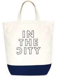 Cityshop In The City Embroidered Tote White