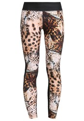 Desigual Tights Camel Black