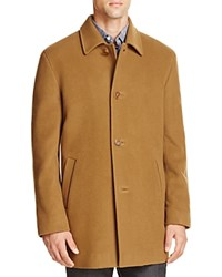 Cole Haan Wool Cashmere Topper Coat Camel