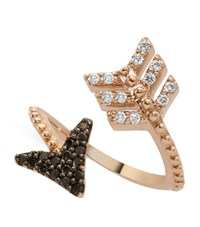 Bee Goddess Black Diamond Eros Arrow Midi Wrap Ring Female