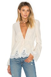 Stone_Cold_Fox Pearl Blouse Beige