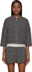 Band Of Outsiders Black And White Zip Up Ink Dot Jacket