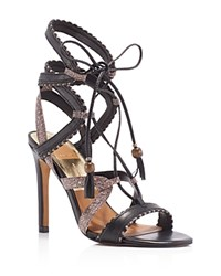 Dolce Vita Haven Lace Up High Heel Sandals Black Multi