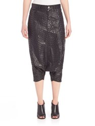 Junya Watanabe Faux Python Drop Crotch Pants Black
