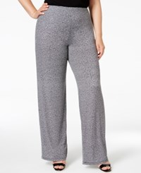 Alfani Plus Size Printed Wide Leg Soft Pants Only At Macy's Jaspe Noise