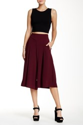 Lily White Palazzo Pant Red