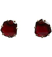 Annoushka Shard 18Ct Rose Gold And Garnet Stud Earrings