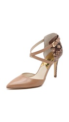 Michael Michael Kors Alexia Closed Toe Pumps Dark Khaki