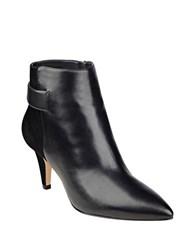Nine West Jaison Leather Ankle Length Booties Black