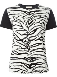 Fausto Puglisi Zebra Print T Shirt Nude And Neutrals