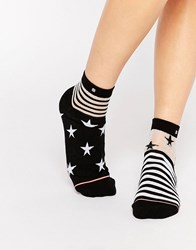 Stance Star And Stripe Sock Pink Multi