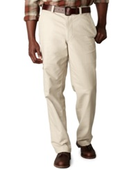 Dockers Big And Tall D3 Classic Fit Comfort Khaki Cargo Flat Front Pants Light Buff