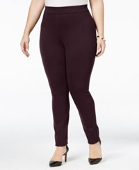 Styleandco. Style Co. Plus Size Seamed Leggings Only At Macy's Dried Plum