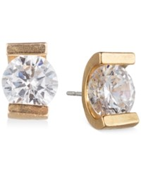Lonna And Lilly Gold Tone Tension Set Crystal Stud Earrings