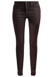 Cheap Monday Slim Fit Jeans Waxed Oxblood Coloured Denim