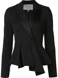 Carolina Herrera Folded Peplum Blazer Black