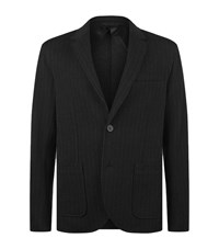 Lanvin Fine Stripe Blazer Male Black