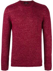 Roberto Collina Crew Neck Knit Sweater Red