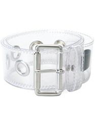 Maison Martin Margiela Mm6 Silver Tone Hardware Belt Nude And Neutrals