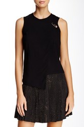 Versus By Versace Layered Safety Pin Blouse Black