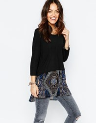 Only Double Layer Mosaic Tunic Multi