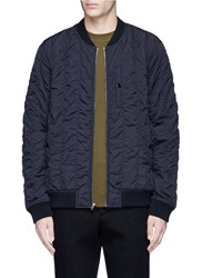 Alexander Wang Quilted Bomber Jacket Black