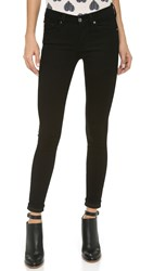 7 For All Mankind The Slim Illusion Skinny Jeans Elasticity Black