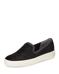 Sam Edelman Becker Calf Hair Slip On Sneaker Black