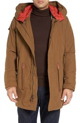 Cole Haan Men's Oxford Military Parka With Detachable Hood