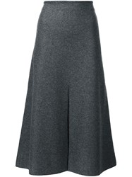 Calvin Klein Collection Mid Waist A Line Skirt Grey