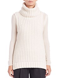 Elie Tahari Mary Kate Cashmere Zip Detail Sweater Antique